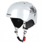 Moon MS-90 Chinese Ink Pattern Outdoor Skiing Helmet - White (Size M)