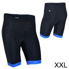 MONTON 11312114 Men's Cycling Thickened Sponge Cushion Short Pants - Black + Blue (Size XXL)