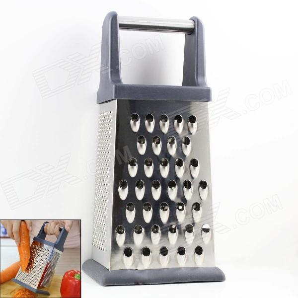Stainless Steel  4-in-1 Multifunction Food Grater Kitchen Tool - Silver fast food leisure fast food equipment stainless steel gas fryer 3l spanish churro maker machine