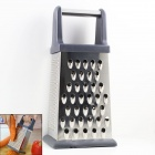Stainless Steel  4-in-1 Multifunction Food Grater Kitchen Tool - Silver
