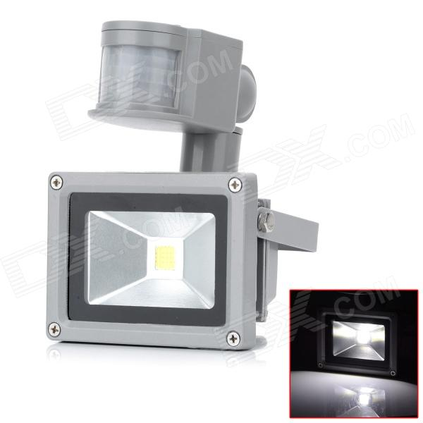 10W 720lm 6500K LED White Light Human Body Infrared Induction Floodlight - Grey (AC 100~240V)
