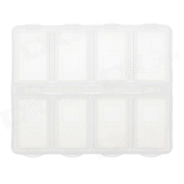 8 Cells Portable PP Medicine Capsule Storage Management Box - Transparent