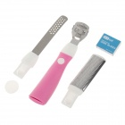 B020-A 5-in-1 Stainless Steel Pedicure Set - Silver + Pink + White