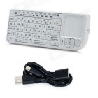 Rii RT-MWK02 Mini Bluetooth v3.0 Keyboard w/ Touchpad / Laser Pointer - White