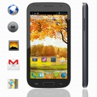 "KICCY I9502 MTK6572 Dual-core Android 4.2 WCDMA Bar Phone w/ 5.0"" IPS, Wi-Fi, GPS - Black + Blue"