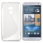"Protective ""S"" Pattern TPU Back Case for HTC One Max / T6/ 8088 / 809D - Translucent White"