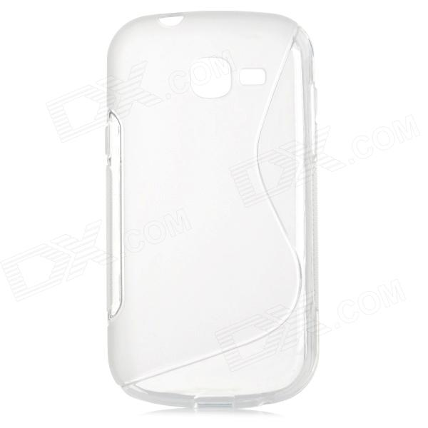S Pattern Protective TPU Case for Samsung Galaxy Trend Lite S7390 / S7932 - Translucent White protective silicone case for nds lite translucent white