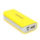 DIY USB 2 x 18650 Battery External Power Bank Case w/ LED Indicator - Yellow + Grey (5V)