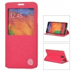DiscoveryBuy Protective Flip-Open PU Case w/ Stand for Samsung Galaxy Note 3 - Red