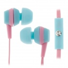 Sibyl M-29 Stylish Stereo In-Ear Earphones w/ Microphone - Pink + Blue (3.5mm Plug / 112cm)
