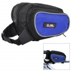 Mysenlan M86007 Water Resistant Bicycle Front Tube Bag - Black + Blue