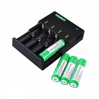 SingFire US-UC1 Intelligent Universal 4-Slot Battery Charger w/ 4 x 18650, EU Plug, Car Charger
