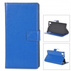 A-336 Stylish Flip-Open PU Leather Case w/ Stand for Sony Xperia Z L39H - Deep Blue