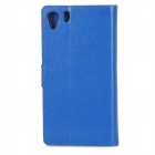 A-336 Stylish Flip-Open PU Leather Case w/ Stand for Sony Xperia Z1 L39H - Deep Blue