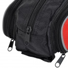 Mysenlan M86007 Water Resistant Bicycle Front Tube Bag - Black + Red
