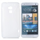 S Pattern Protective TPU Case for HTC ONE MAX T6 / 8088 / 809D - White