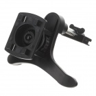 H62 360 Degree Rotation Air Outlet Four Export Base for Mobile / GPS - Black