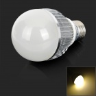 RH-AR-11-6W E27 6W 420lm 3500K 6-LED Warm White Light Bulb - Silver + White (AC 100~240V)