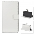 Protective PU Leather Case for Sony Xperia Z1 L39H - White