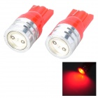 Walang Ting T10 1W 90lm LED Red Light Car Clearance lamp - (12V / 2 PCS)