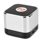 TD-02 Mini Speaker w/ FM - Silver + Black