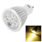 JRLED JR-LED-GU10-5W GU10 5W 350lm 3300K 5-LED Warm White Spotlight - White + Silver (AC 85~265)