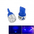 Walang Ting T10 1W 90lm 450nm LED Ice Blue Light Car Clearance Lamp - (2 PCS / 12V)