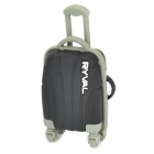 RYVAL Cute Luggage Style Water Resistant USB Flash Drive - Black + Grey (8G)