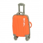 RYVAL Cute Luggage Style Water Resistant USB Flash Drive - Orange + Grey (8G)