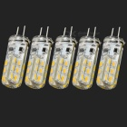 G4 2W 100lm 3000K Warm White 24-3014 SMD LED Car Bulb (DC 12V / 5 PCS)