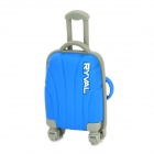 RYVAL Cute Luggage Style Water Resistant USB Flash Drive - Blue + Grey (8G)