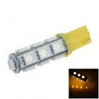 T10 / 194 / W5W 2.5W 250lm 13 x SMD 5050 LED Yellow Car Side Light / Clearance / Reading lamp -(12V)