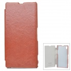 KALAIDENG Enland Series Flip-Open PU Case for Sony Xperia Z1 / L39H - Brown