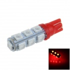 T10 / 194 / W5W 2.5W 250lm 13 x SMD 5050 LED Red Car Side Light / Clearance / Reading lamp - (12V)