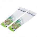 JSZ Outdoor Cycling Spandex Sunproof Oversleeves - White + Green (Size M)