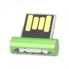 RYVAL ELF Mini Portable USB Flash Drive w/ LED Indicator - Green + Transparent (32GB)