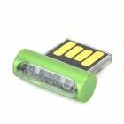 RYVAL ELF Mini Portable USB Flash Drive w / Indicateur LED - Vert + Transparent (32 Go)
