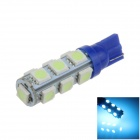 T10 / W5W 2.5W 250lm 13 x SMD 5050 LED Ice Blue Car Side Light / Clearance / Reading lamp - (12V)