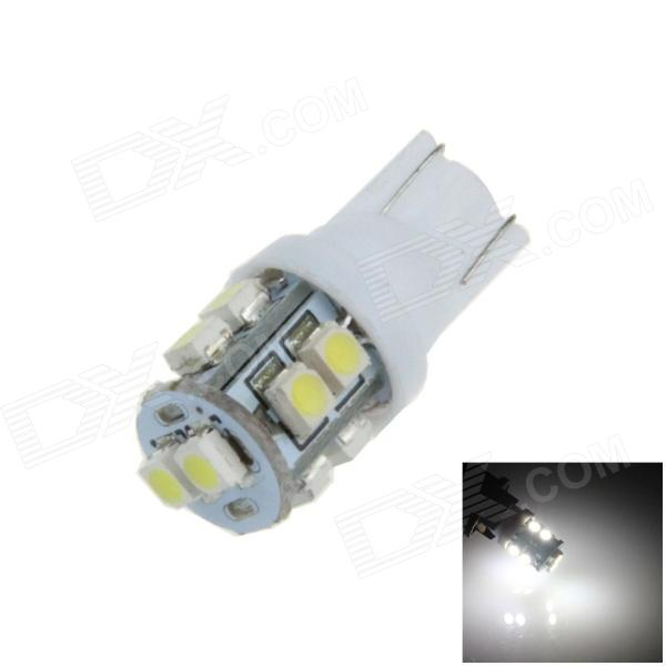 T10 / 194 / W5W 0.5W 90lm 10 x SMD 3528 LED White Car Side Light / Indicator / Reading lamp - (12V)