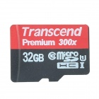 Transcend TF300X UHS-I Micro SDHC / TF Memory Card - Black (32GB / Class 10)