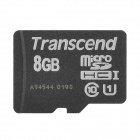 Transcend TF-300X UHS-I Micro SDHC / TF Memory Card - Black (8GB / Class 10)