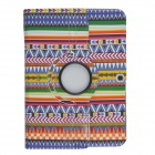 Protective 360 Degree Rotation PU Leather Case for Samsung P5200 - Multicolor