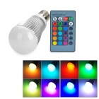 E27 5W 150lm RGB LED Remote Control Light - Silver + White (AC 85~265V)