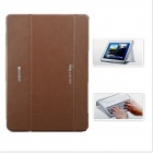 Business Three Fold PU Leather Case for Samsung P600 / P601 - Brown