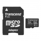 Transcend TF600X UHS-I Micro SDHC / TF Memory Card w/ SD Adapter (16GB / Class 10)