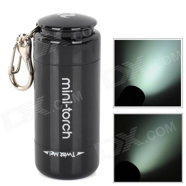 Mini-Torch X7 USB Rechargeable 1-LED 2-Mode White Flashlight - Black