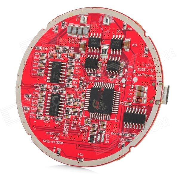 DIY Universal Qi Wireless Charger Round Transmitter Module - Red + Black
