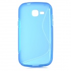 """S"" Pattern Protective TPU Back Case for Samsung Galaxy Trend Lite S7390 / S7932 - Blue"
