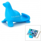 KALAIDENG Cute Sea Lion Style Universal PVC Stand for Cell Phone - Blue