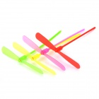 Plastic Bamboo-copter Bamboo Dragonfly Toy w/ LED Light - Red + Yellow + Green + Pink (4 PCS)